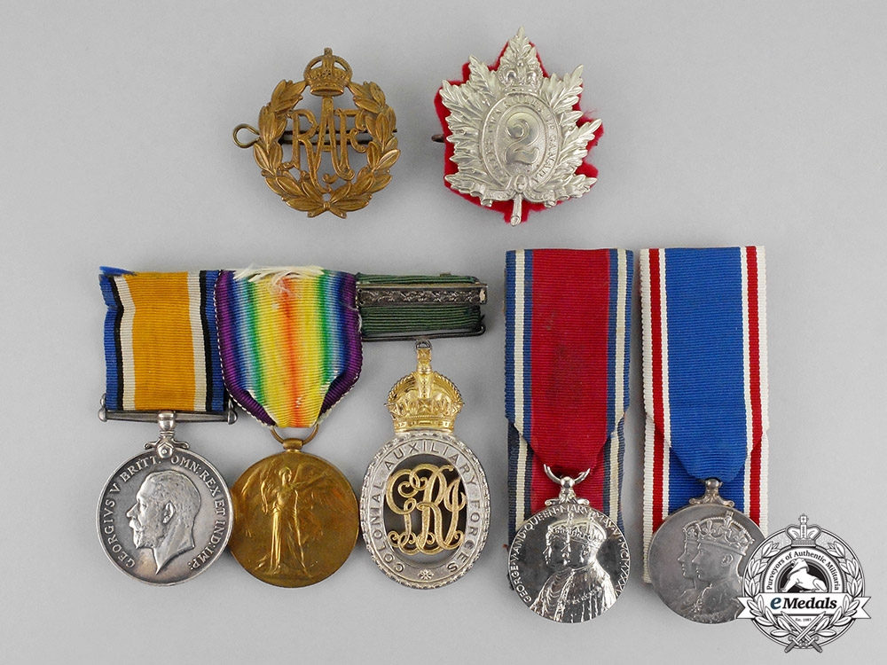 eMedals-Canada. A Group to Major V.M.Howard, 2nd Battalion Queen's Own Rifles of Canada & Royal Flying Corps