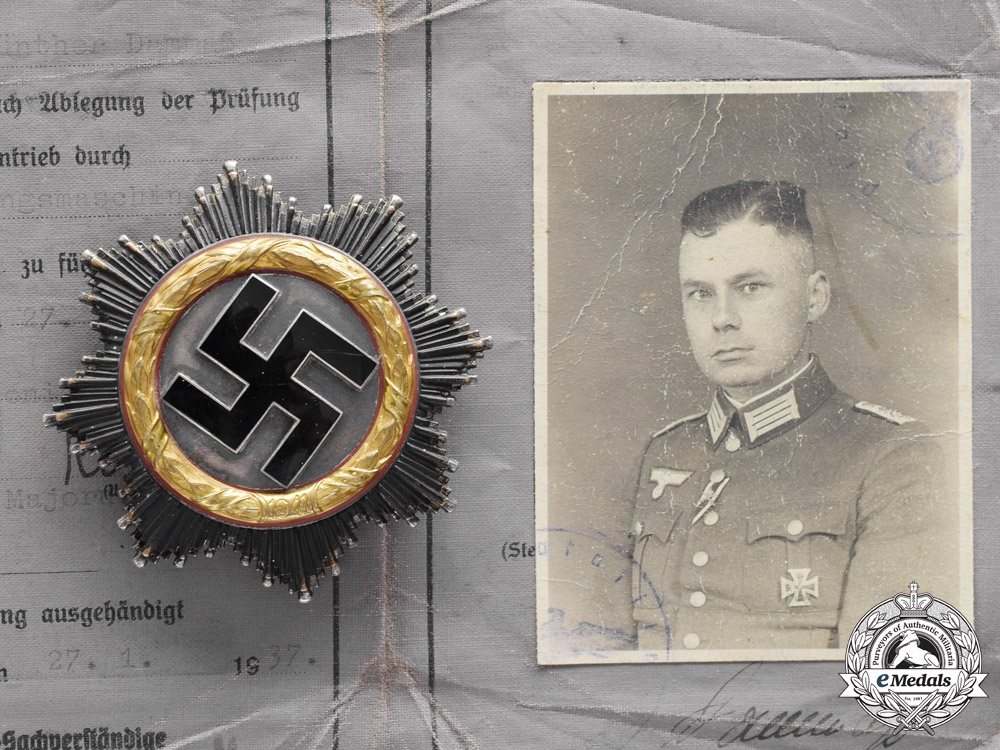 eMedals-Germany. A DKiG Group with Documents to Oberst Günther Dammaß, Pionier Battalion 60