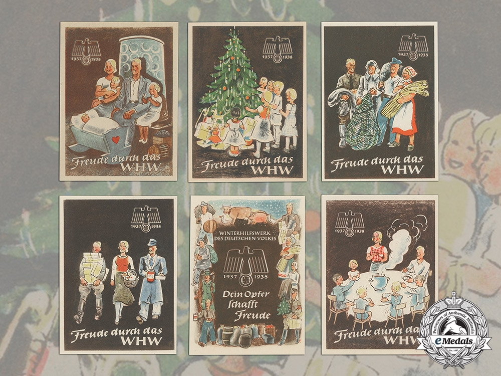 eMedals-Germany. A Set Winterhilfswerk (WHW) Handouts, 1938-1939