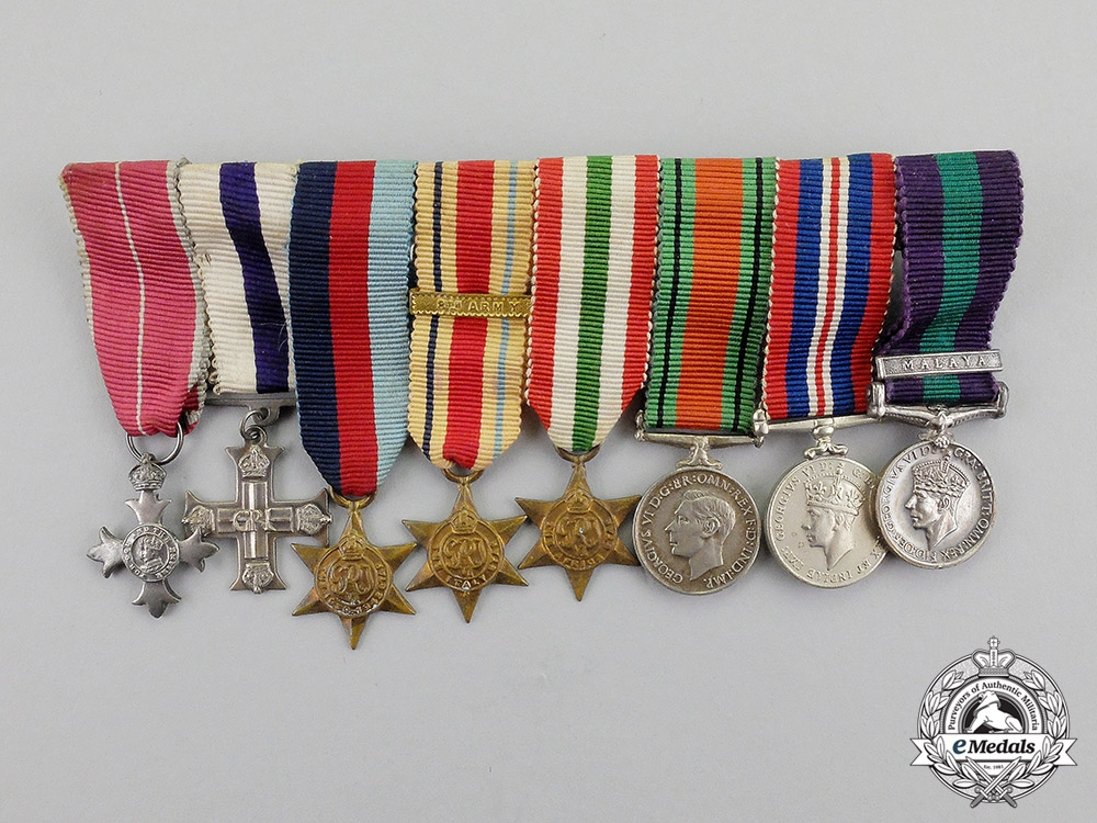 eMedals-  Great Britain. An OBE & Military Cross Miniature Group, c.1945