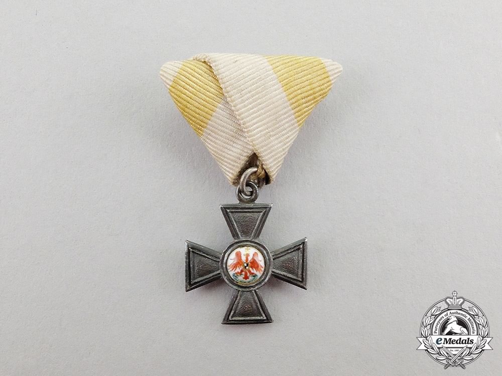 eMedals-Prussia. A Miniature Imperial Order of the Red Eagle Cross, Fourth Class