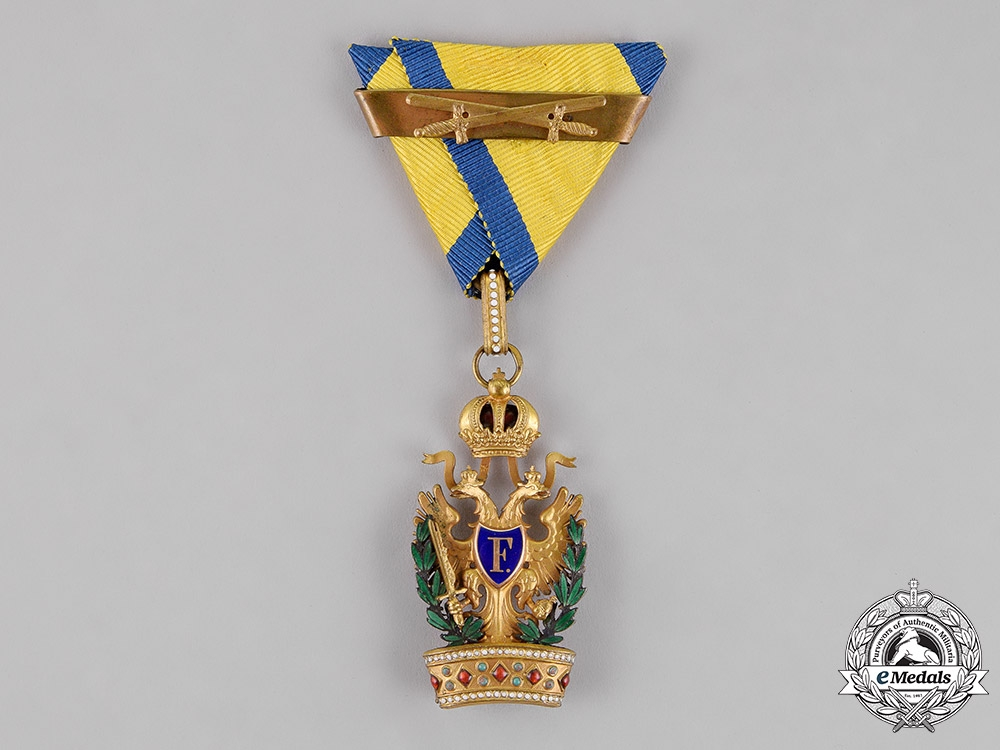 eMedals- Austria, Imperial. An Order of the Iron Crown, Third Class with War Decoration & Swords by C. F. Rothe, c.1915