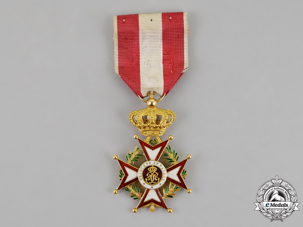eMedals-Monaco, Principality. An Order of St. Charles in Gold, I Class Knight, c.1930