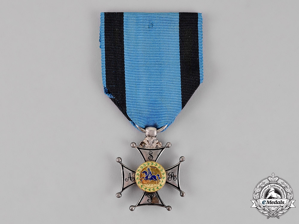 eMedals-Poland, Duchy of Warsaw. A Silver Cross of Virtuti Militari, 5th Class, c.1807