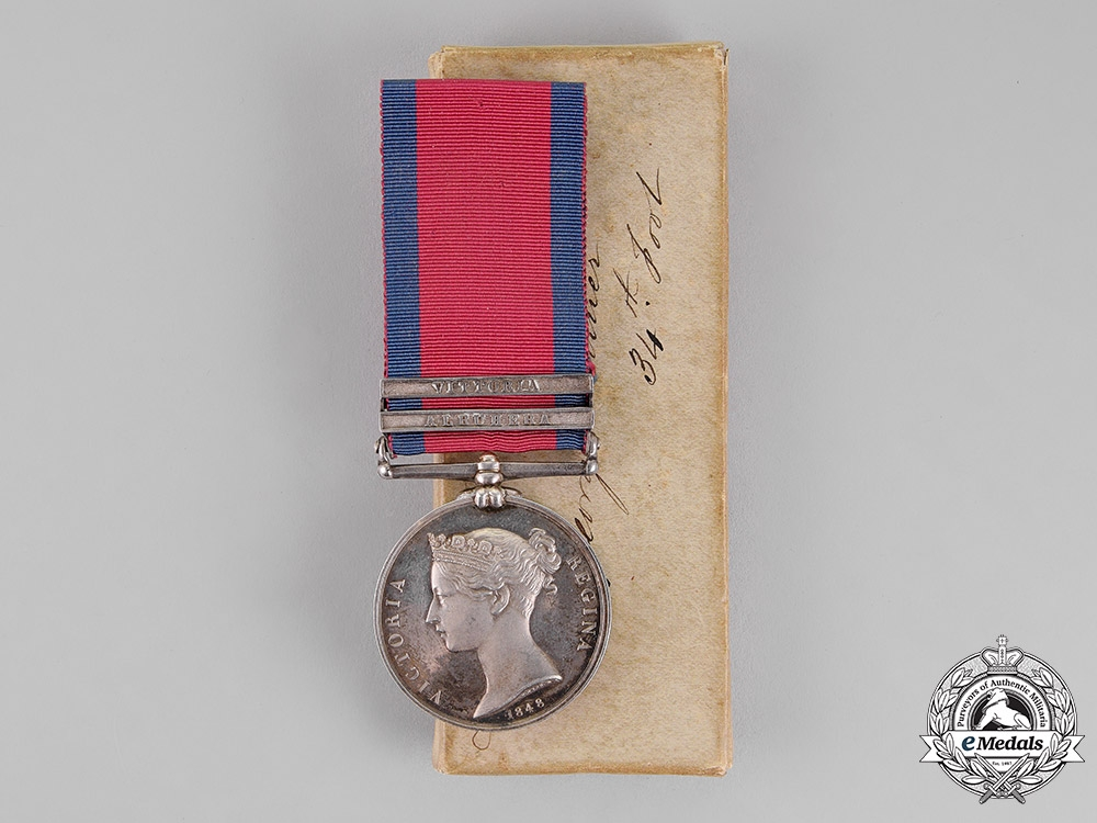 eMedals-United Kingdom. A Military General Service Medal, 34th (Cumberland) Regiment of Foot