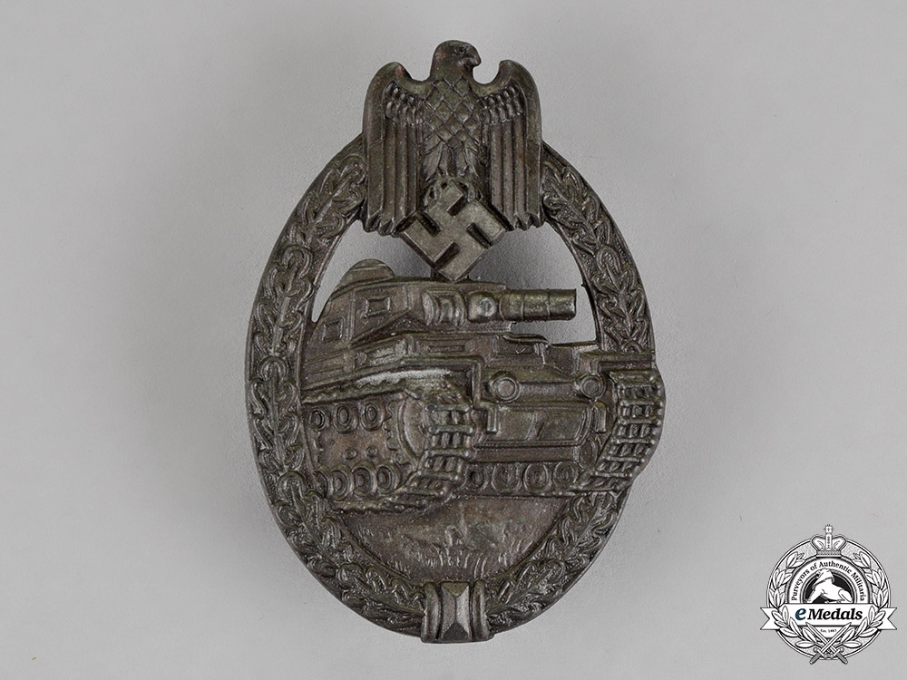 eMedals-Germany. A Tank Badge, Bronze Grade, By Rudolf Souval
