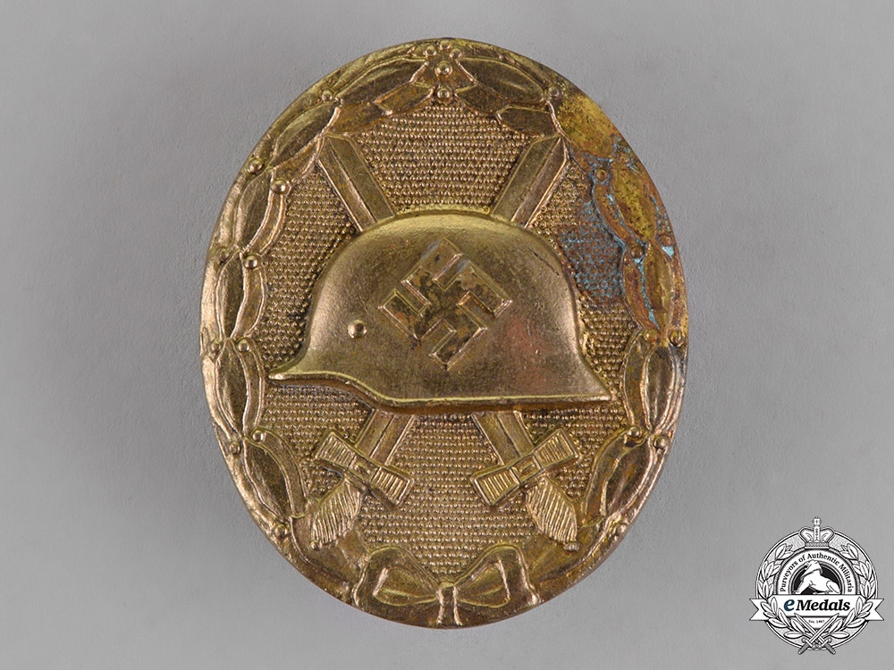 eMedals-Germany. A Wound Badge, Gold Grade, by the Official Vienna State Mint