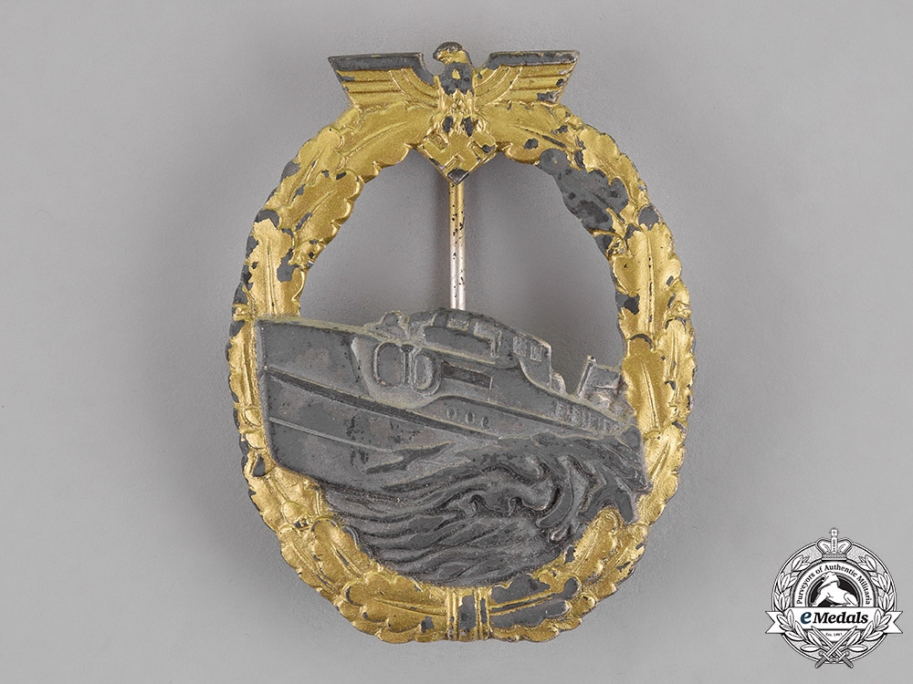 eMedals-Germany. A Kriegsmarine E-Boat Badge, First Type, by an Unknown Maker