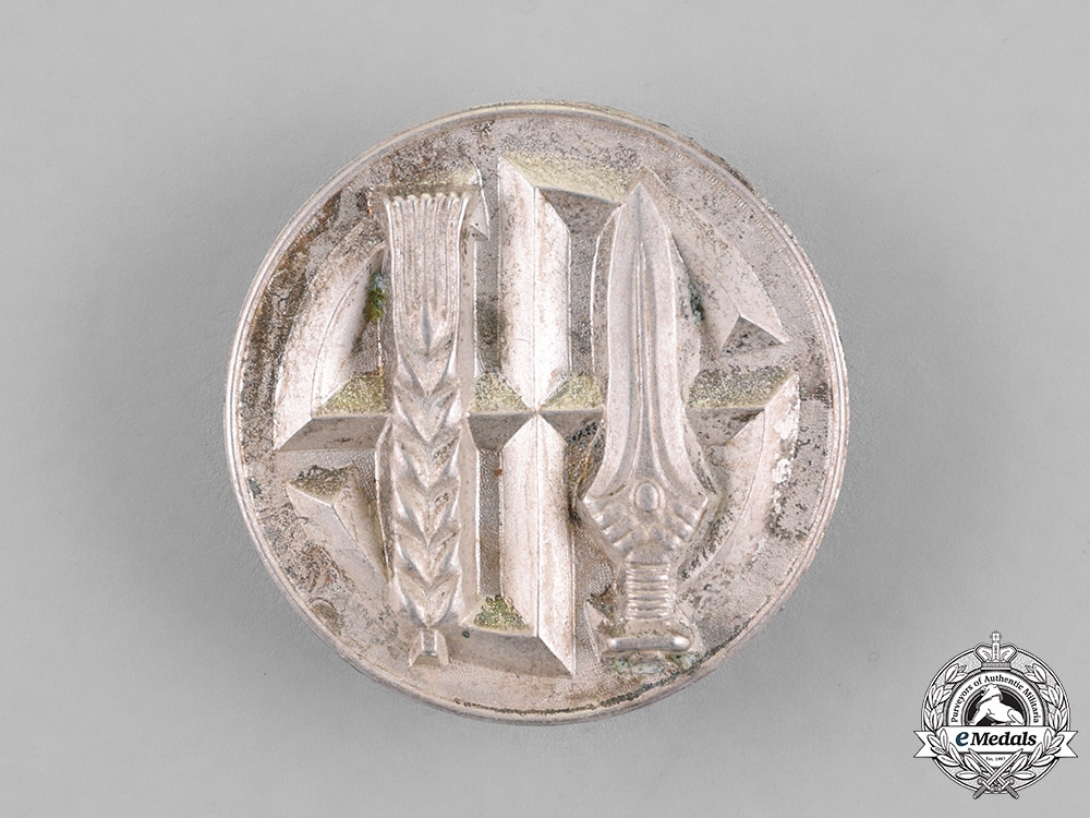 eMedals-Germany. A Reichsnährstand Honour Badge. Silver Grade, Numbered, Light Version