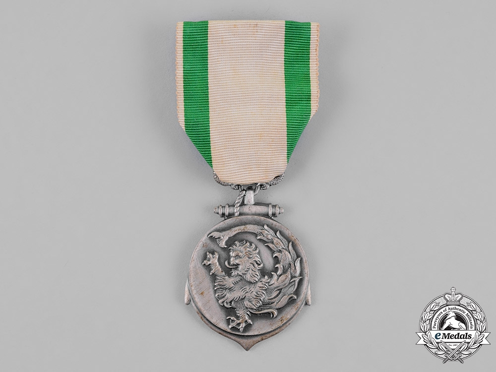 eMedals-Brazil. A Medal for the Naval Force of the South, Silver Grade for Officers 1942-1945