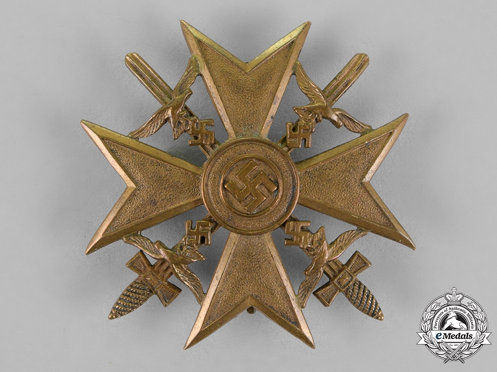 eMedals-Germany, Luftwaffe. A Spanish Cross with Swords, Bronze Grade