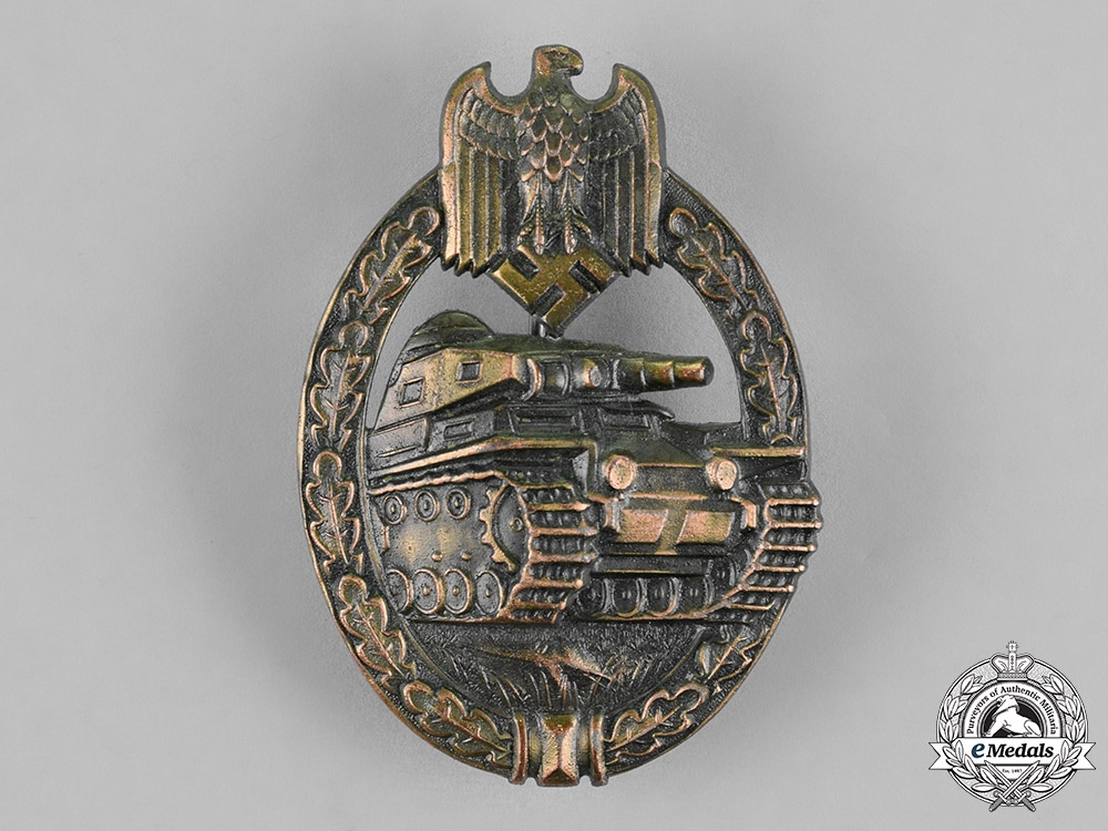 eMedals-Germany, Wehrmacht. A Tank Badge, Bronze Grade