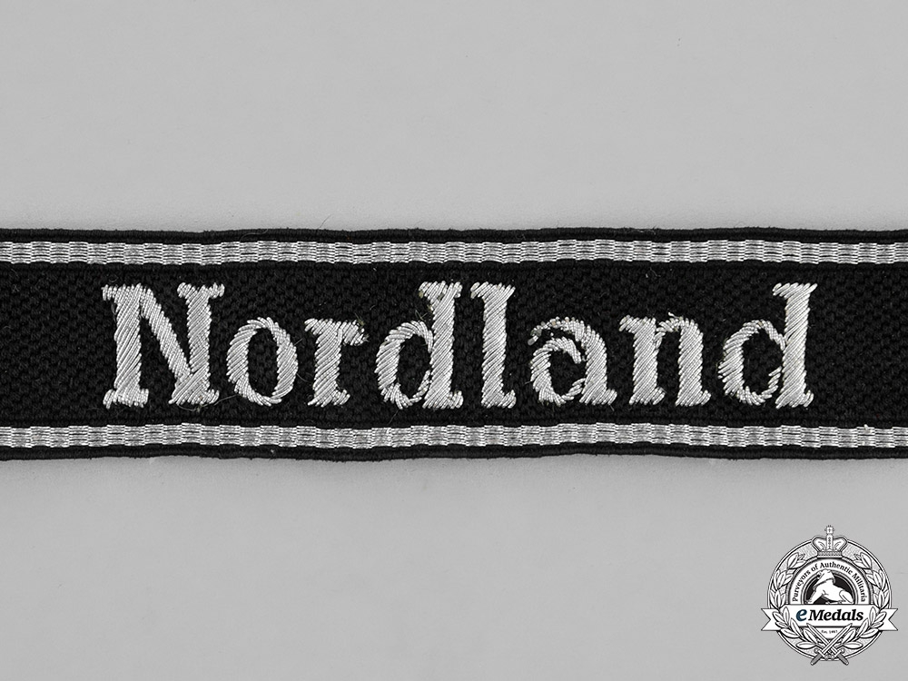 """eMedals-Germany. A Waffen-SS Panzergrenadier Division """"Nordland"""" Officer's Cufftitle"""
