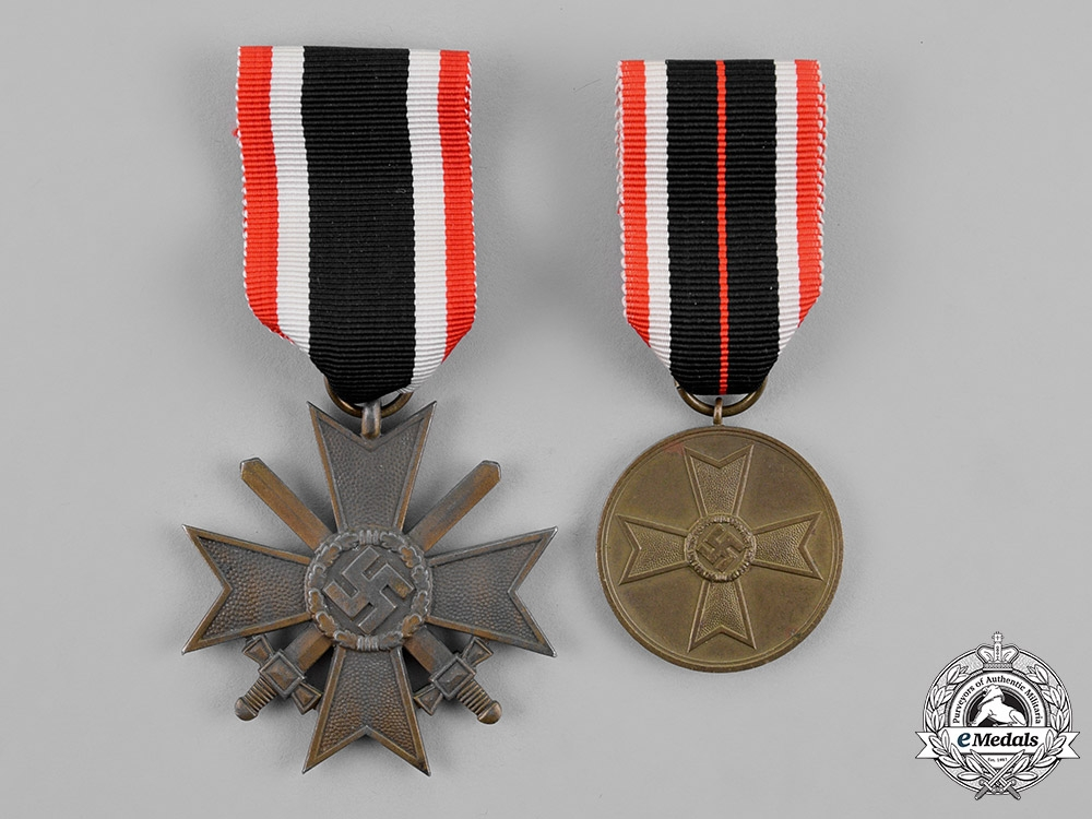 eMedals-Germany, Wehrmacht. Two War Merit Medals and Awards