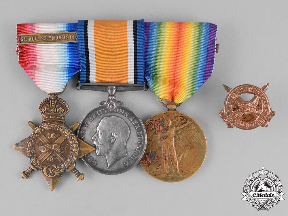eMedals-United Kingdom. A First War Trio to Owen, Cheshire Regiment / Private David Hassall, Cheshire Regiment/Shropshire Light Infantry
