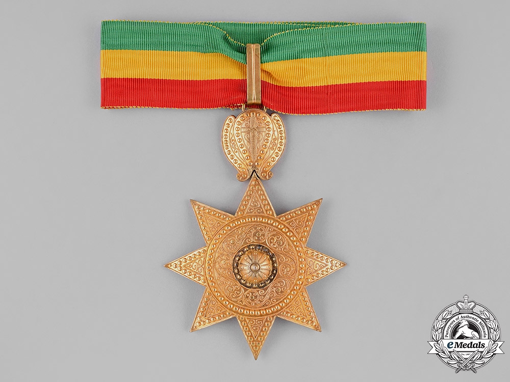 eMedals-Ethiopia, Empire. An Order of the Star of Ethiopia, II Class Commander, by Sevadjian