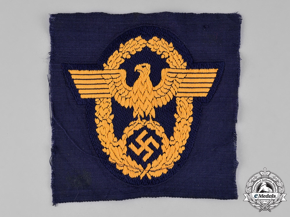 eMedals-Germany. A Mint & Unissued Water Protection Civil Police Sleeve Eagle