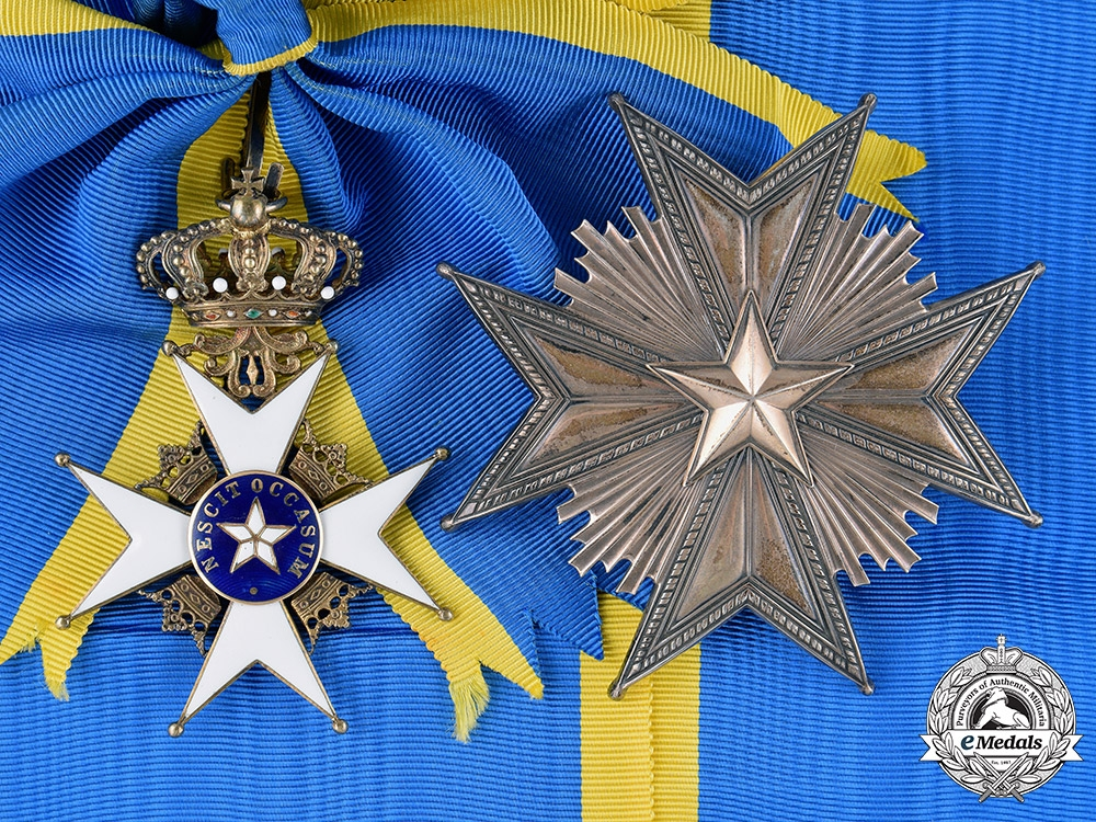 eMedals-Sweden, Kingdom. An Order of the North Star, I Class Grand Cross, c.1910