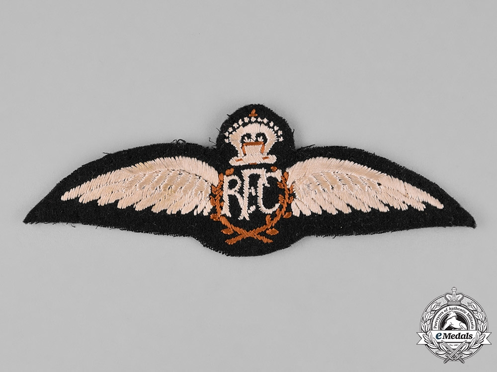 eMedals-United Kingdom. A Published Example of a First War Royal Flying Corps (RFC) Pilot Wings