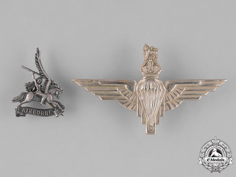 eMedals-United Kingdom. Two Parachute Regiment Badges