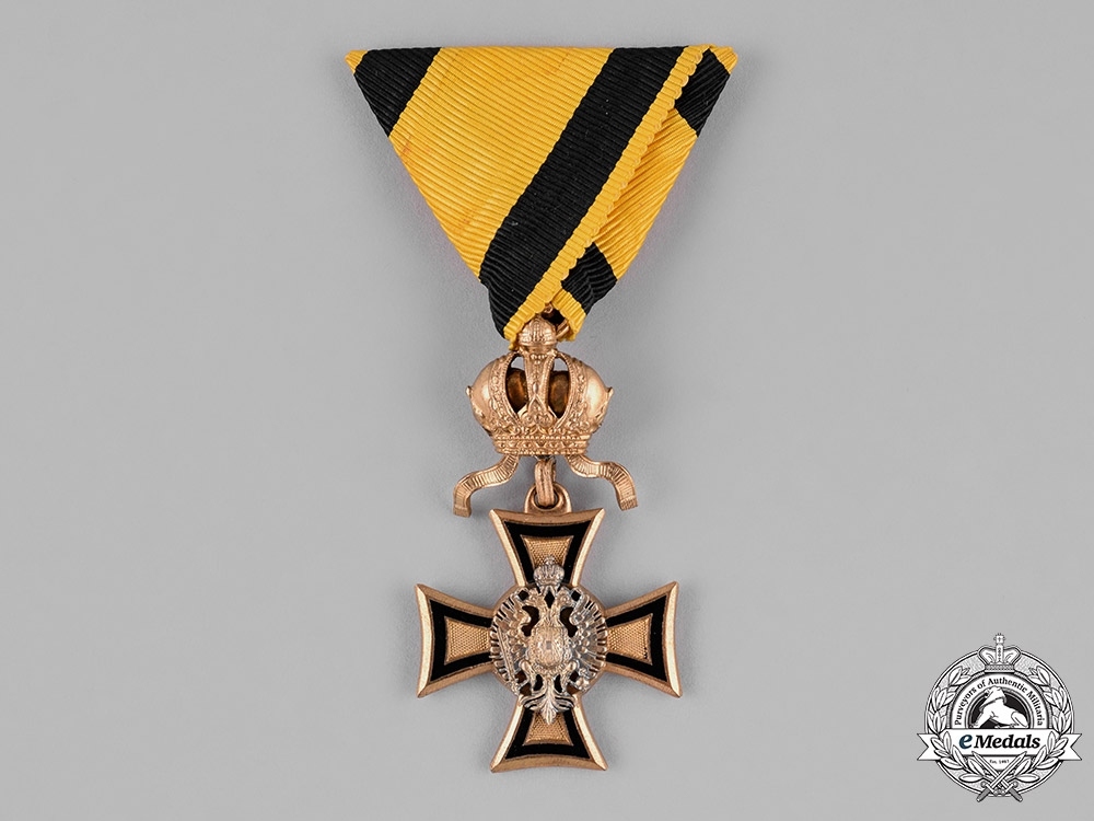 eMedals-Austria, Imperial. A Fifty Year Long Military Service Cross for Officers, c.1914