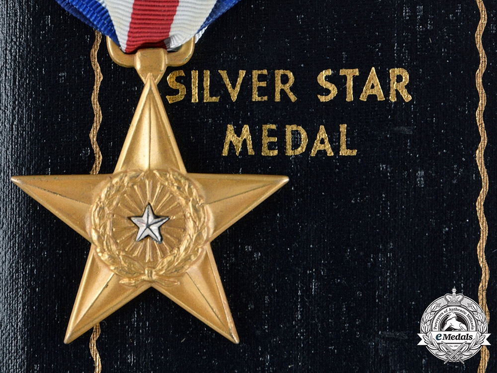 eMedals-United States. A Silver Star to Lawrence Jordan, Jr. with Case