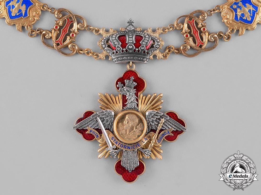 eMedals-Romania, Kingdom. A Rare Collar of the Order of Carol I