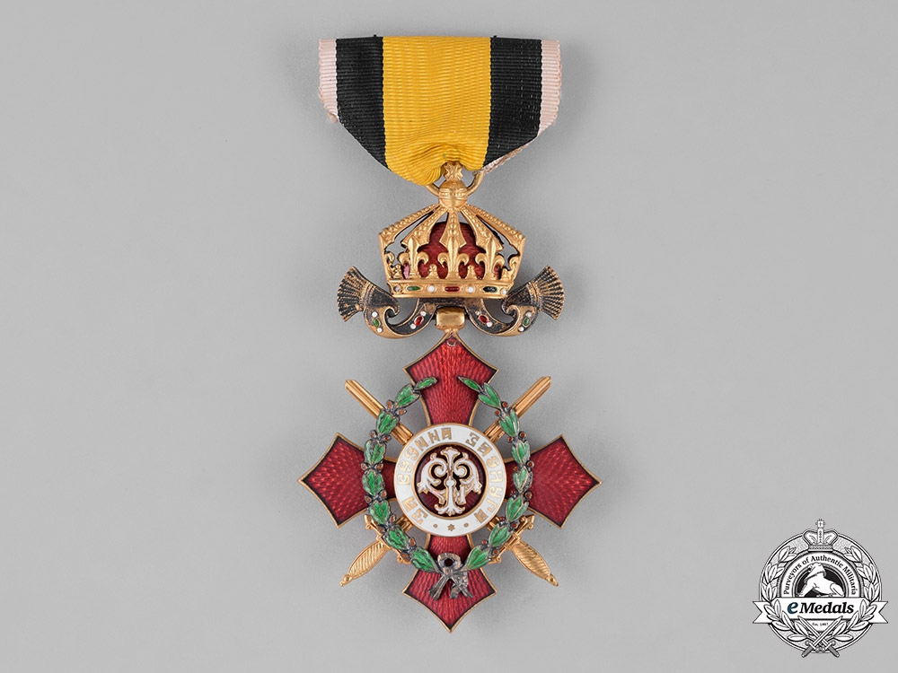 eMedals-Bulgaria, Kingdom. An Order of Military Merit, VI Class Knight with War Decoration, c.1930