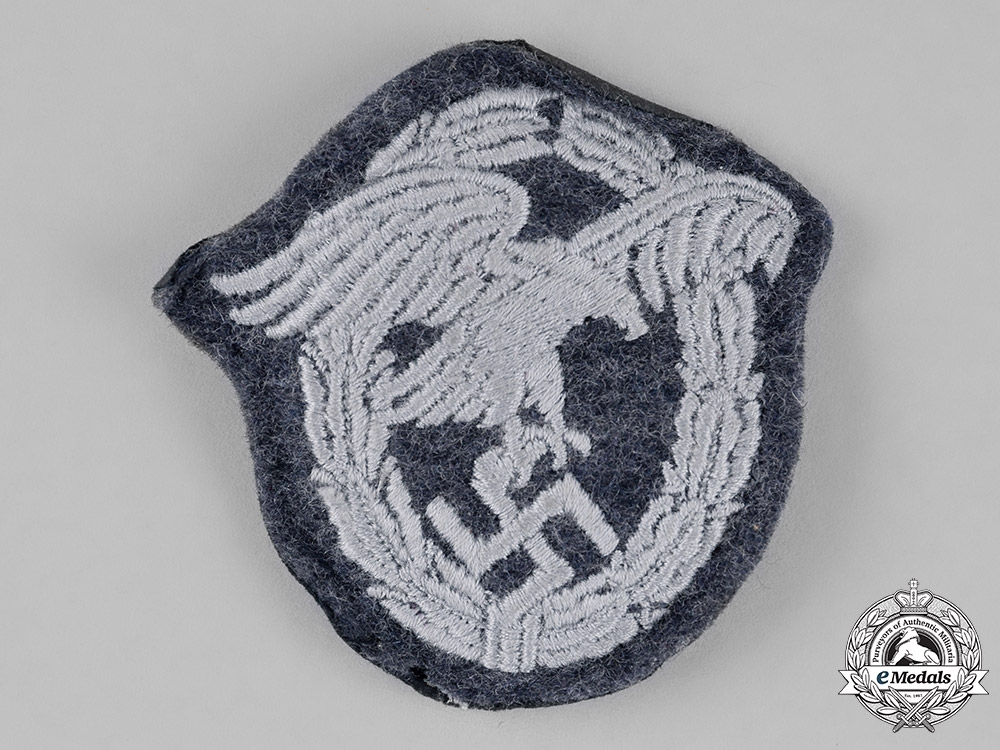 eMedals-Germany, Luftwaffe. An Observer Badge, Padded Cloth Version