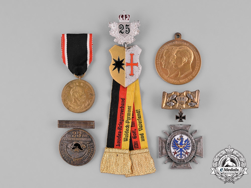eMedals-Germany, Imperial. Six Service Medals.