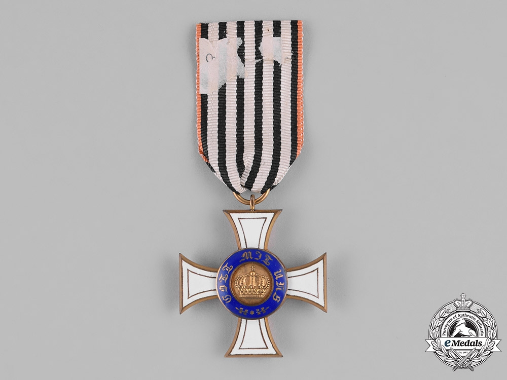 eMedals-Prussia, State. A Royal Order of the Crown, III Class on Commemorative Ribbon, c.1910