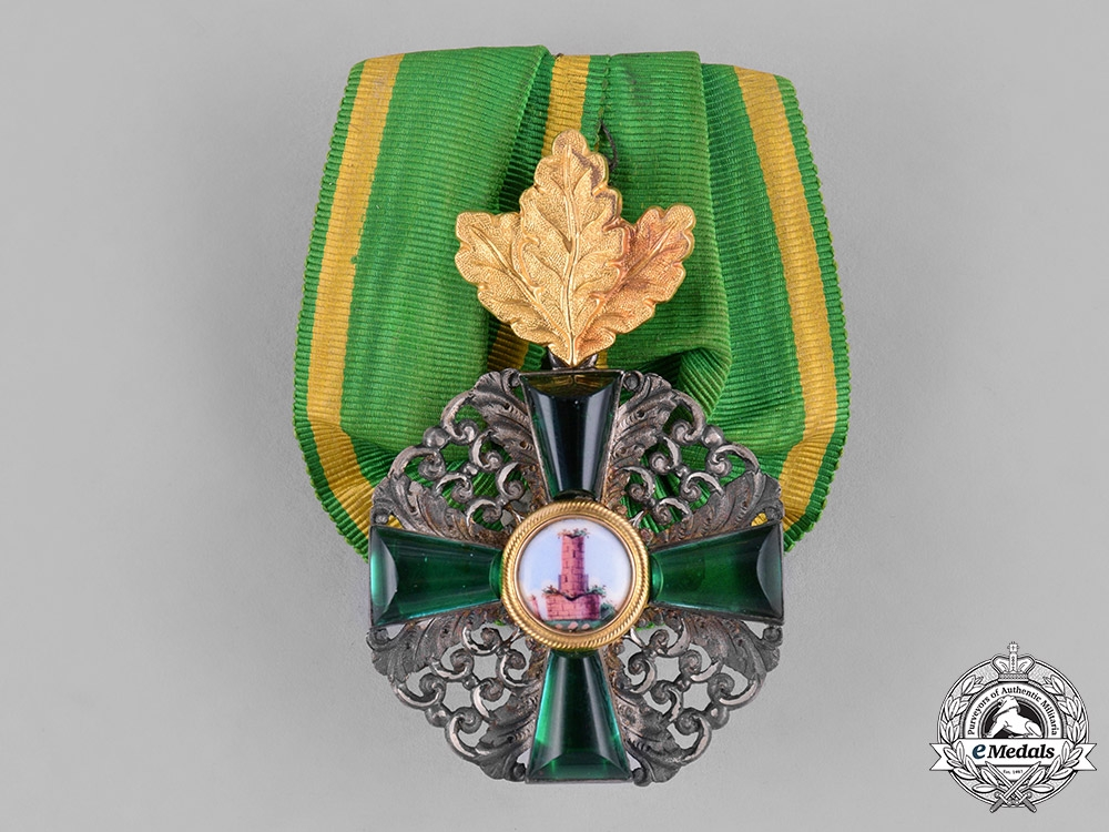 eMedals-Baden. An Order of the Zähringer Lion, Second Class Knight, with Oak Leaves, c.1910