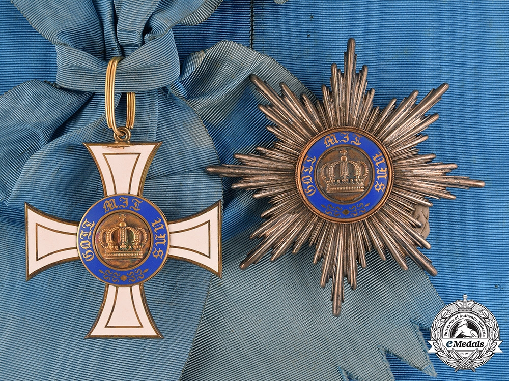 eMedals-Prussia, State. A Royal Order of the Crown in Gold, First Class, c.1910