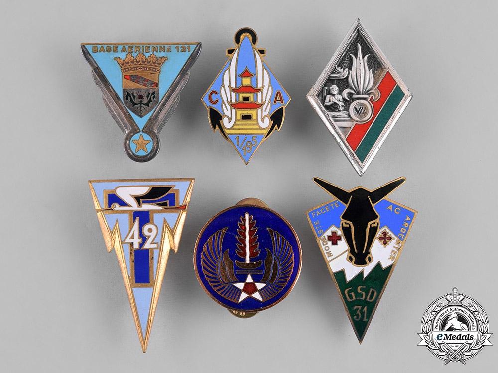 eMedals-France, Republic. Sixteen Military Insignia Badges