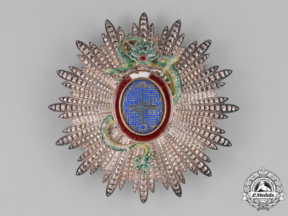 eMedals-Annam, French Protectorate. An Imperial Order of the Dragon, Grand Cross Star, by A. Chobillon, c.1900