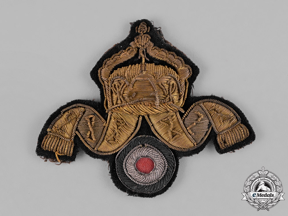 eMedals-Germany, Imperial. An Imperial German Navy (Kaiserliche Marine) Deck Officer's Cap Insignia