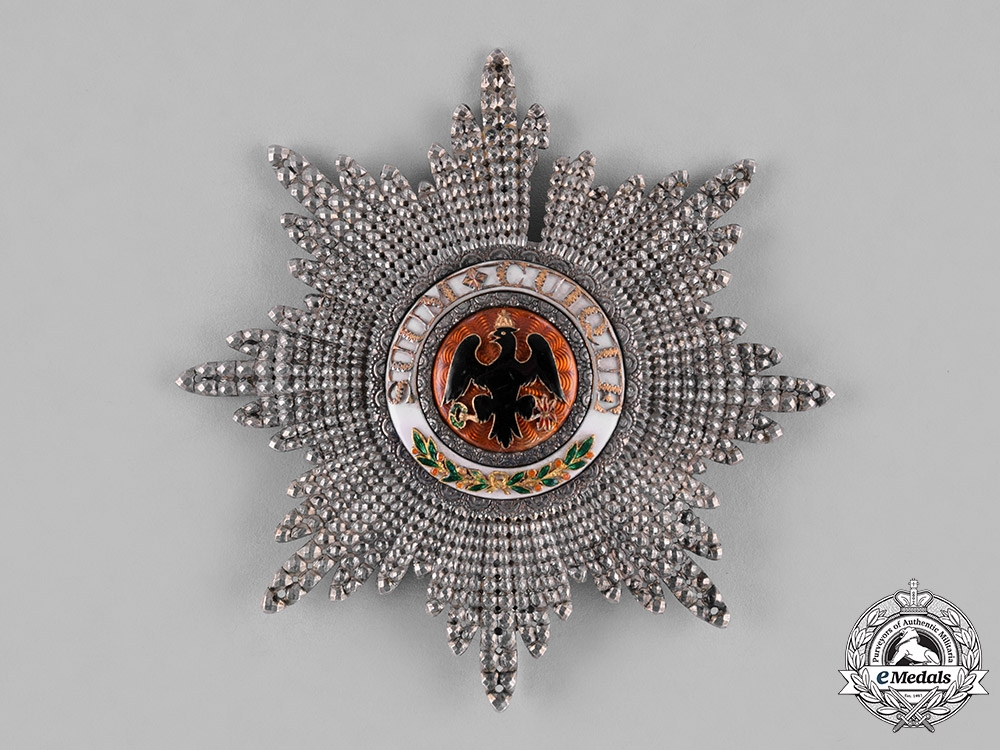 eMedals-Prussia, State. A High Order of the Black Eagle, Breast Star to the Cross of the Order, by Hamlet, c.1820