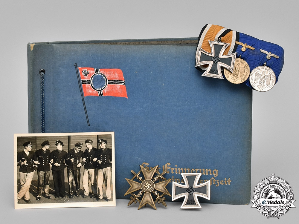 eMedals-Germany, Kriegsmarine. A Collection of Career Awards, Award Documents, and Photo Albums of Friedrich Weilkes.