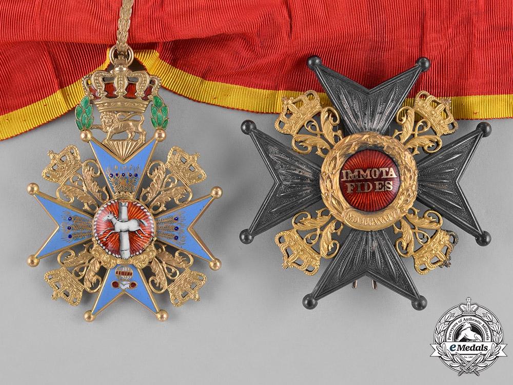 eMedals-Braunschweig, Dukedom. A House Order of Henry the Lion, Grand Commander, by F.Siebrecht, c.1910