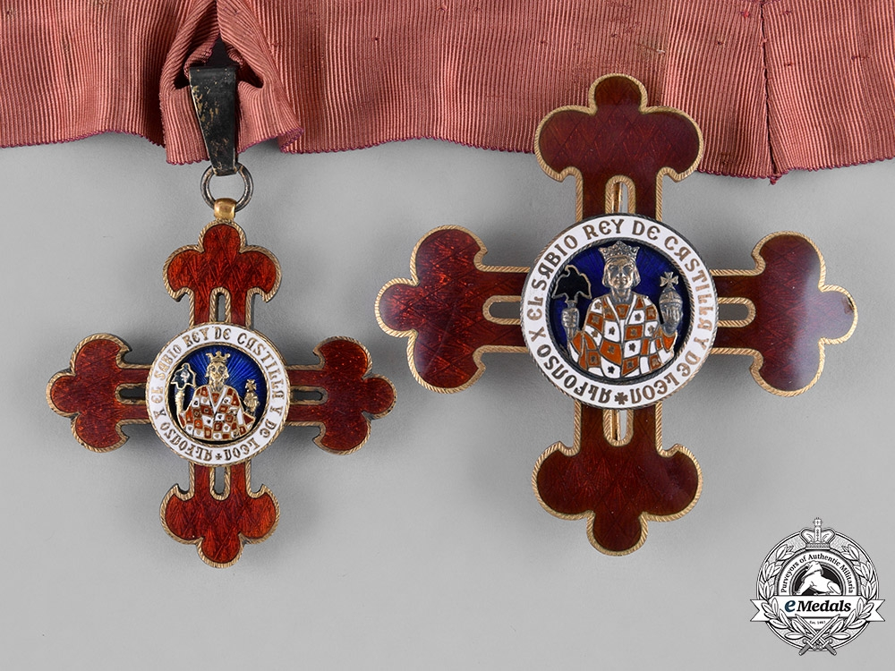 eMedals-Spain, Franco's Period. A Civil Order of Alfonso X the Wise, Grand Commander, c.1950