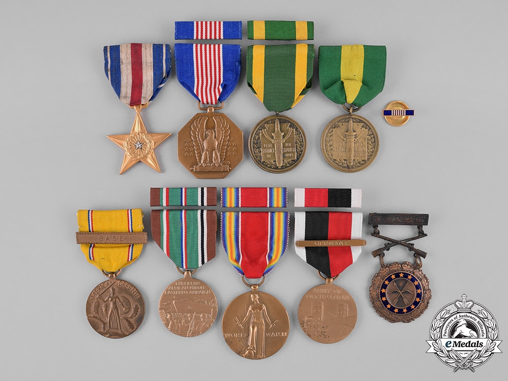 eMedals-United States. A Lot of Nine Medals & Campaign Awards, c.1946