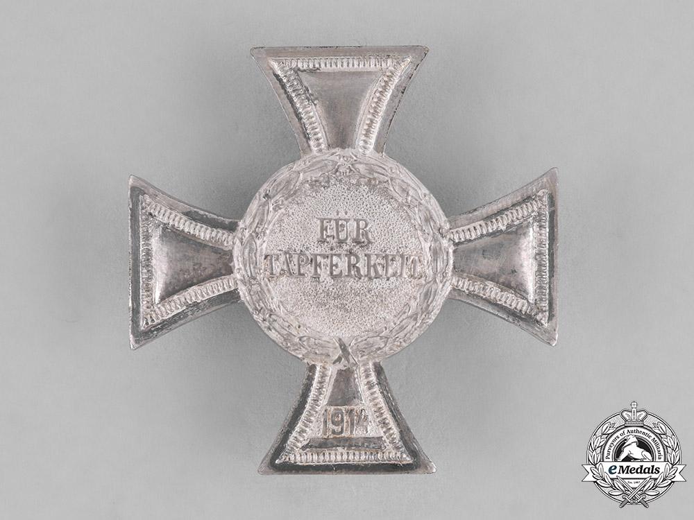 eMedals-Mecklenburg Strelitz. A 1914 Silver Bravery Cross, First Class by Meybauer