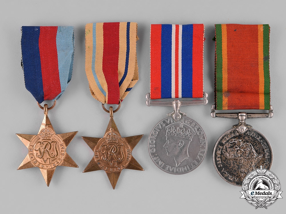 eMedals-South Africa. A Group of Four to Corporal Isadore Mofsowitz, 2nd Division Ammunition Company, Union Defence Force