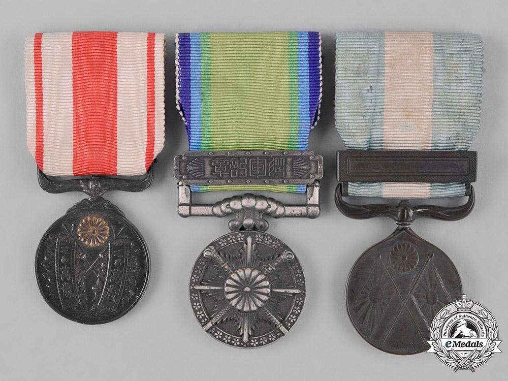 eMedals-Japan, Empire. Three Medals & Decorations