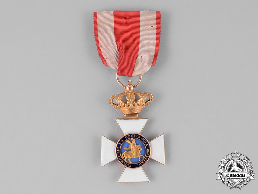 eMedals-Spain, Kingdom. A Military Order of St. Hermenegild in Gold, Knight, c.1850