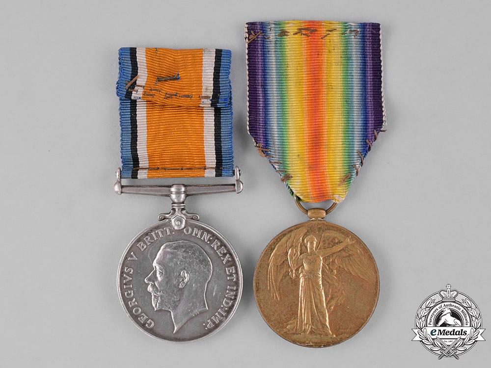 eMedals-United Kingdom. A First War Pair, to Air Mechanic First Class G.A. Wilson, Royal Air Force