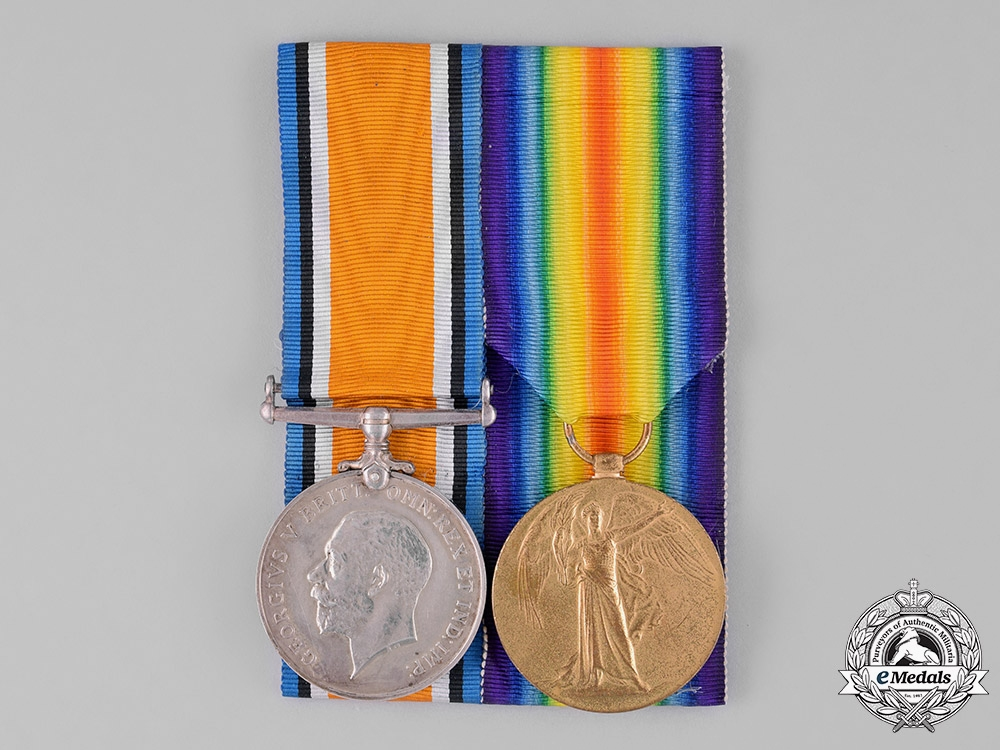 eMedals-United Kingdom. A First War Pair, to Corporal F. Burrell, Lancashire Fusiliers