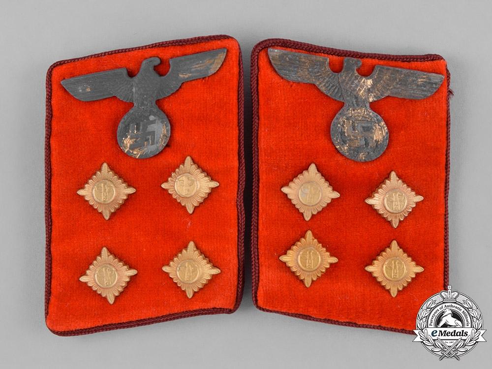 eMedals-Germany, NSDAP. A Pair of Gau-Level NSDAP Gemeinschaftsleiter Collar Tabs