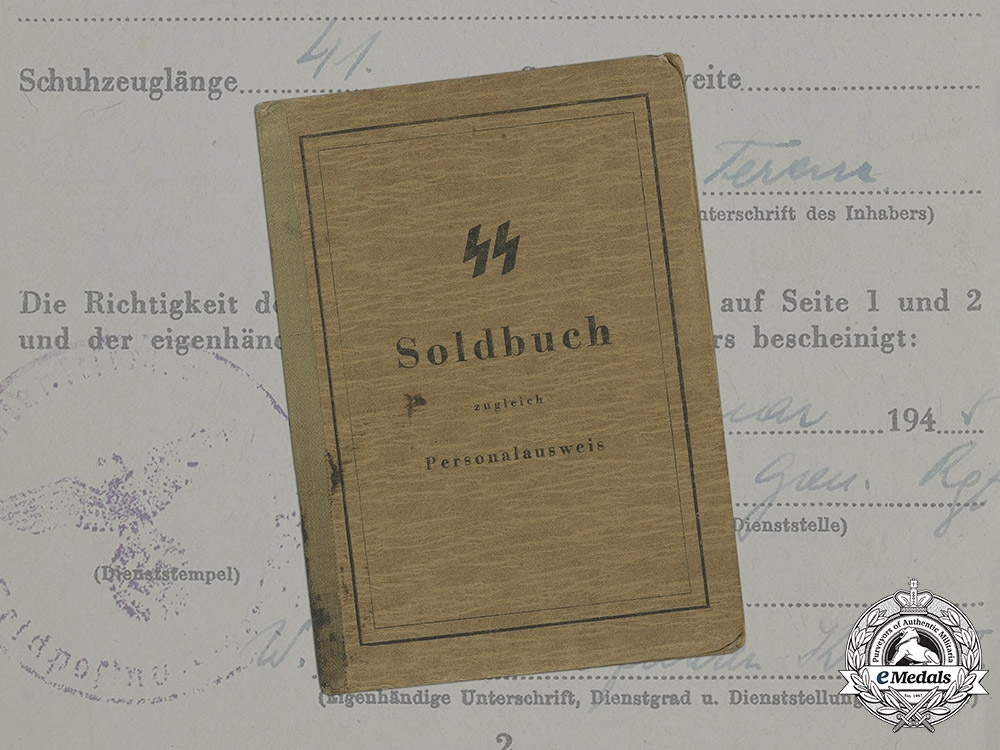"""eMedals-Germany, SS. The Soldbuch Of Hungarian Volunteer Ferencz Kelemen, SS Division """"  Hunyadi"""""""