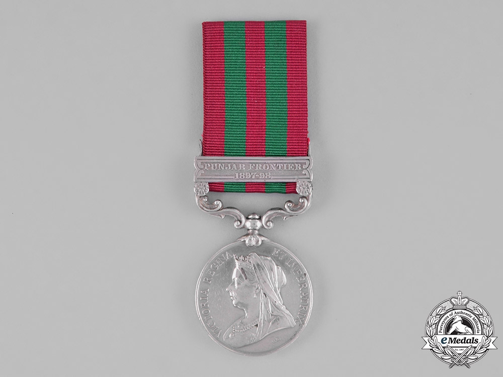 eMedals-Great Britain. India Medal 1895-1902, to Sepoy Sahil Singh, 35th Sikhs